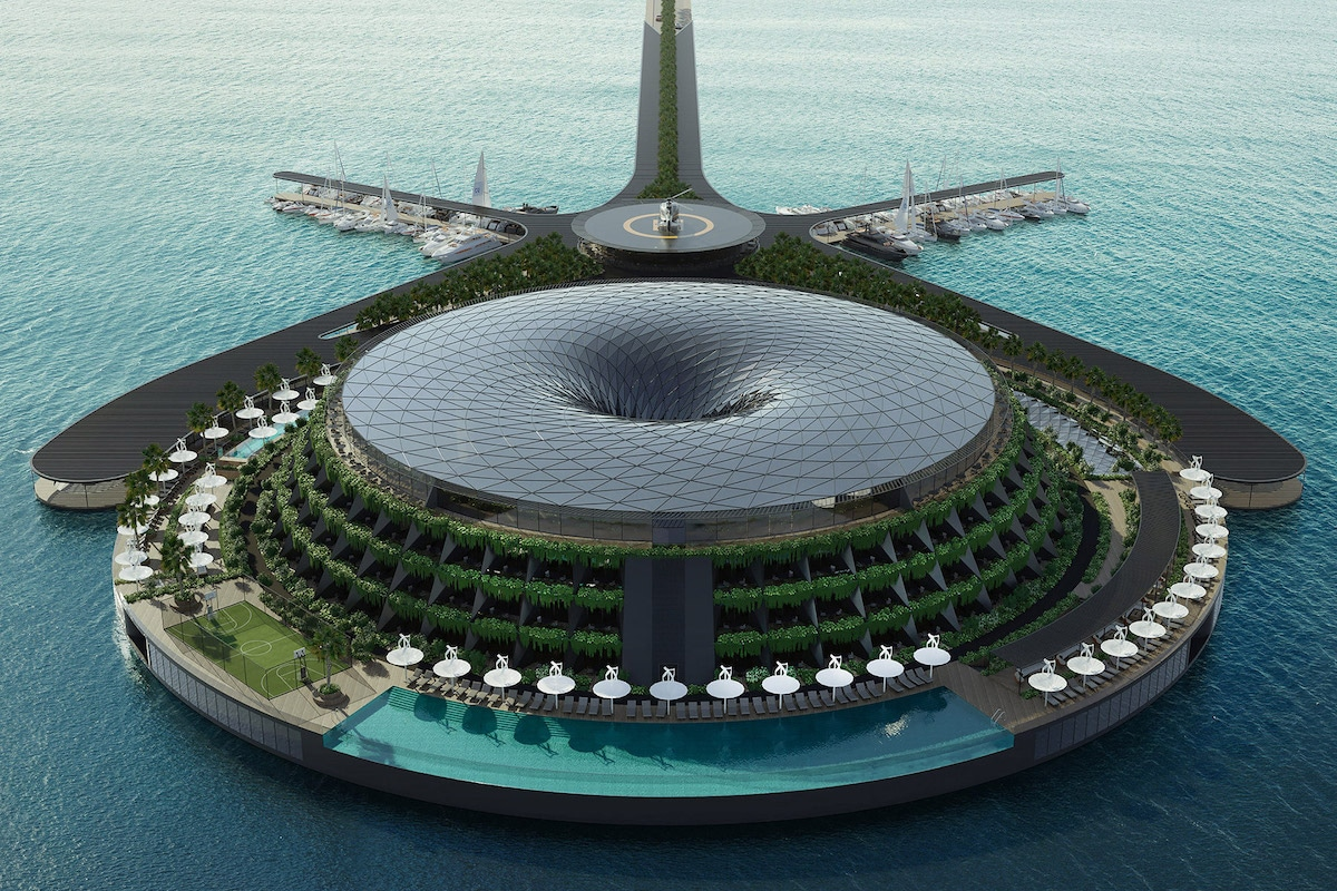 This Architect Designed a Conceptual Eco-Floating Hotel in Qatar