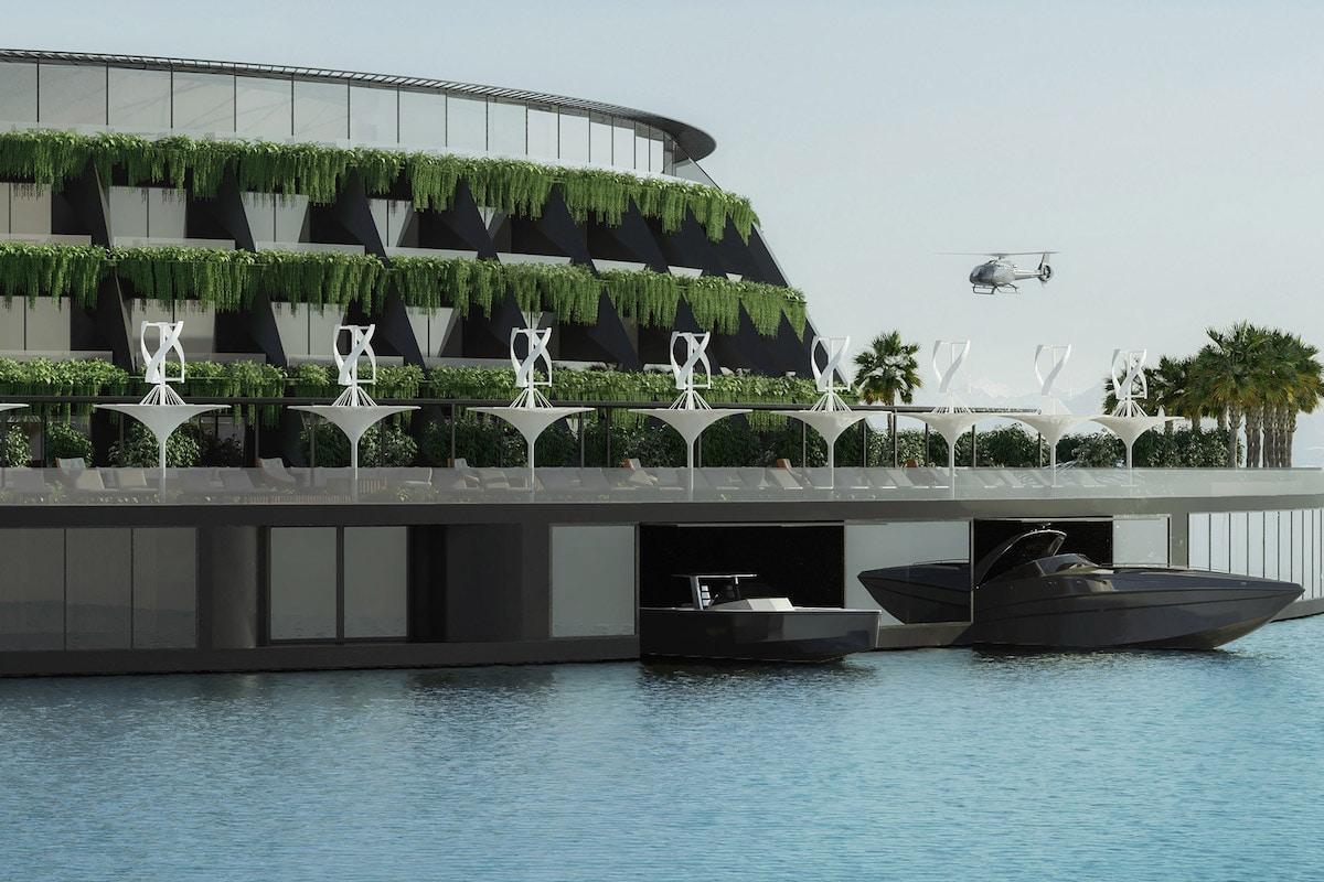 Hotel flotante para Catar diseñado por Hayri Atak Architectural Design Studio