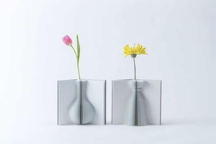 Flowery Tale Book Vase