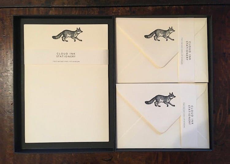 Fox Stationery Set