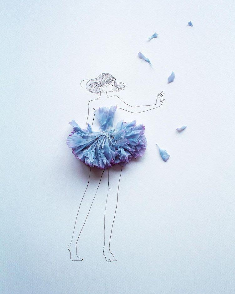 Fashion Illustration by Hanaco Hanasakura