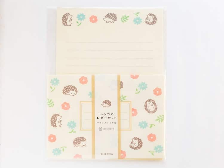 Hedgehog Stationery Set