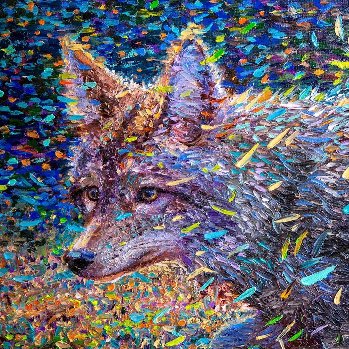 Pintura hecha con los dedos por Iris Scott