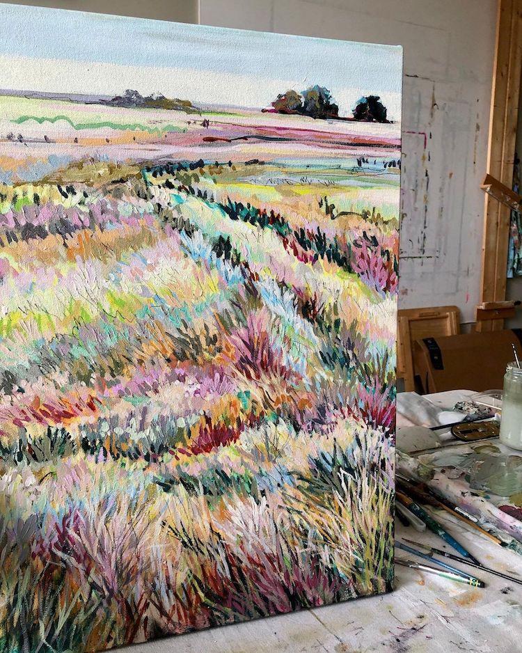 Colorful Landscape Paintings by Jennifer L Mohr