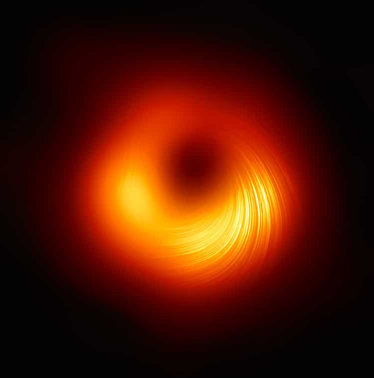 Event Horizon Telescope M87 Super Massive Black Hole First Images of Magnetic Field