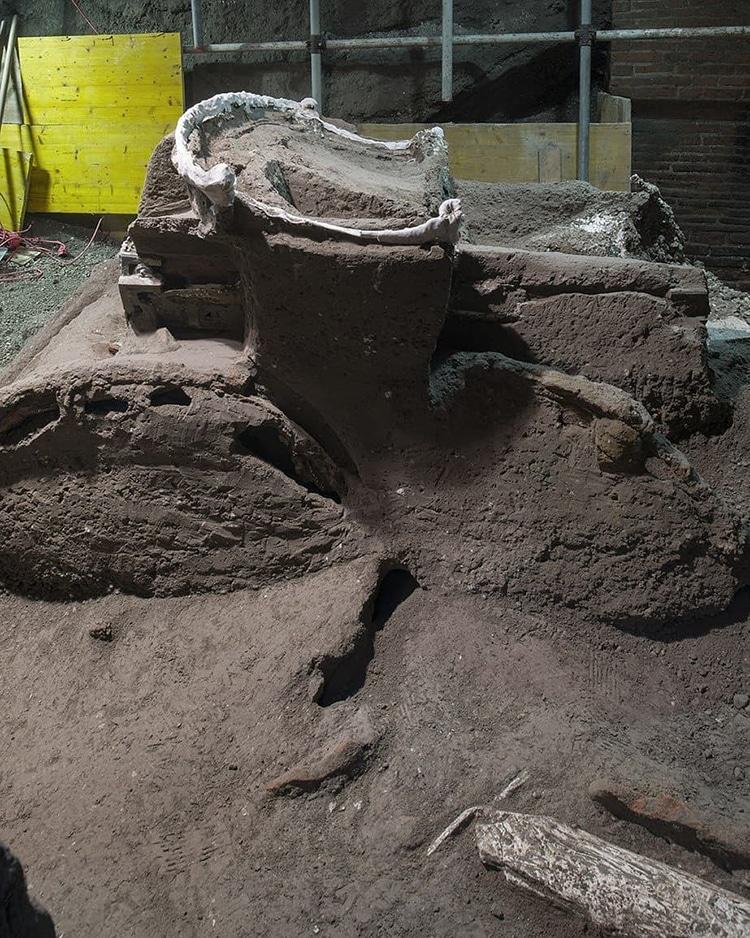 Pompeii Ceremonial Chariot Pilentum Ancient Rome Preservation Vesuvius