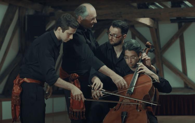 Weiner Cello Ensemble Four Musicians on One Cello