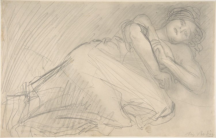 """The Abandoned,"" by Auguste Rodin, 1898–1907. Sketch"