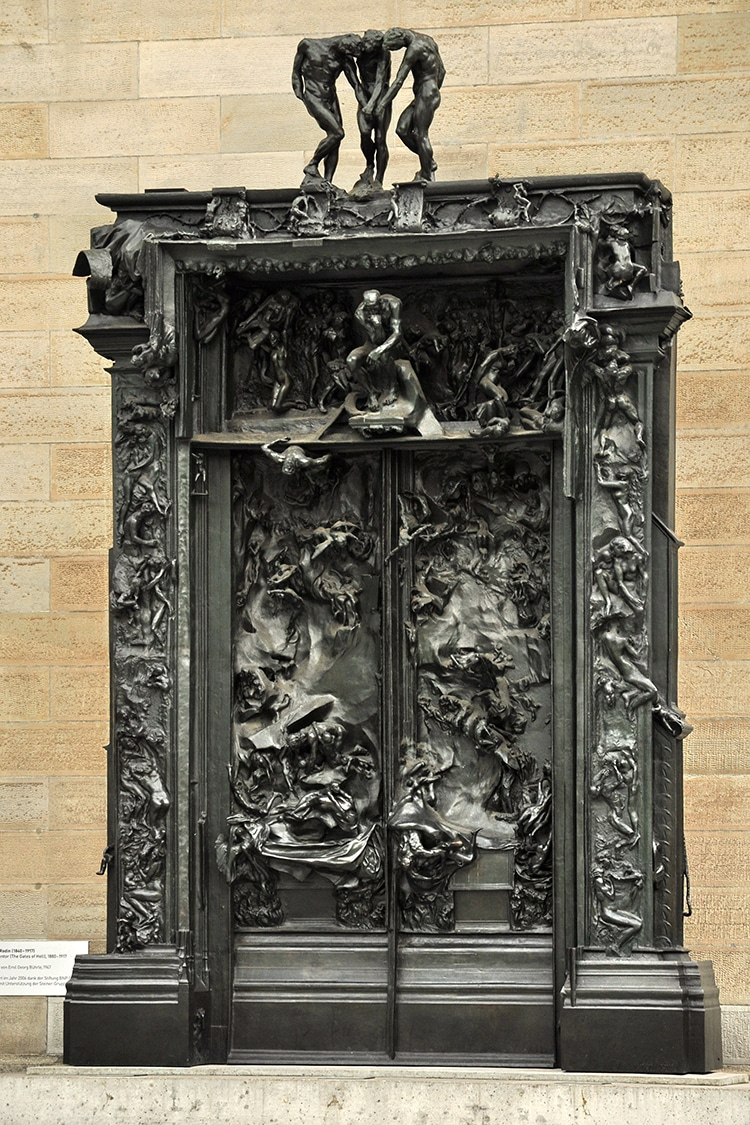 Gates of Hell Bronze Doors Rodin Dantes Inferno