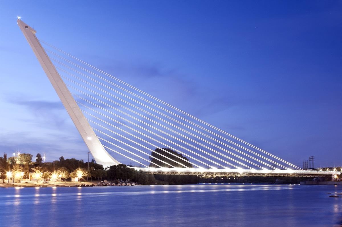 Alamillo Bridge by Santiago Calatrava
