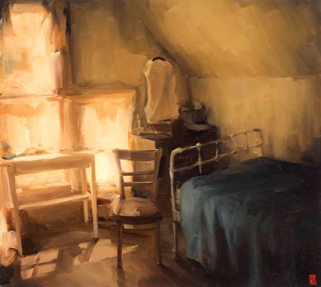 Atmospheric Indoor Oil Paintings by Sasha Hartslief