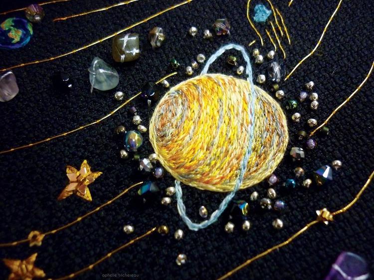 Space Embroidery Designs by Ophélie Trichereau