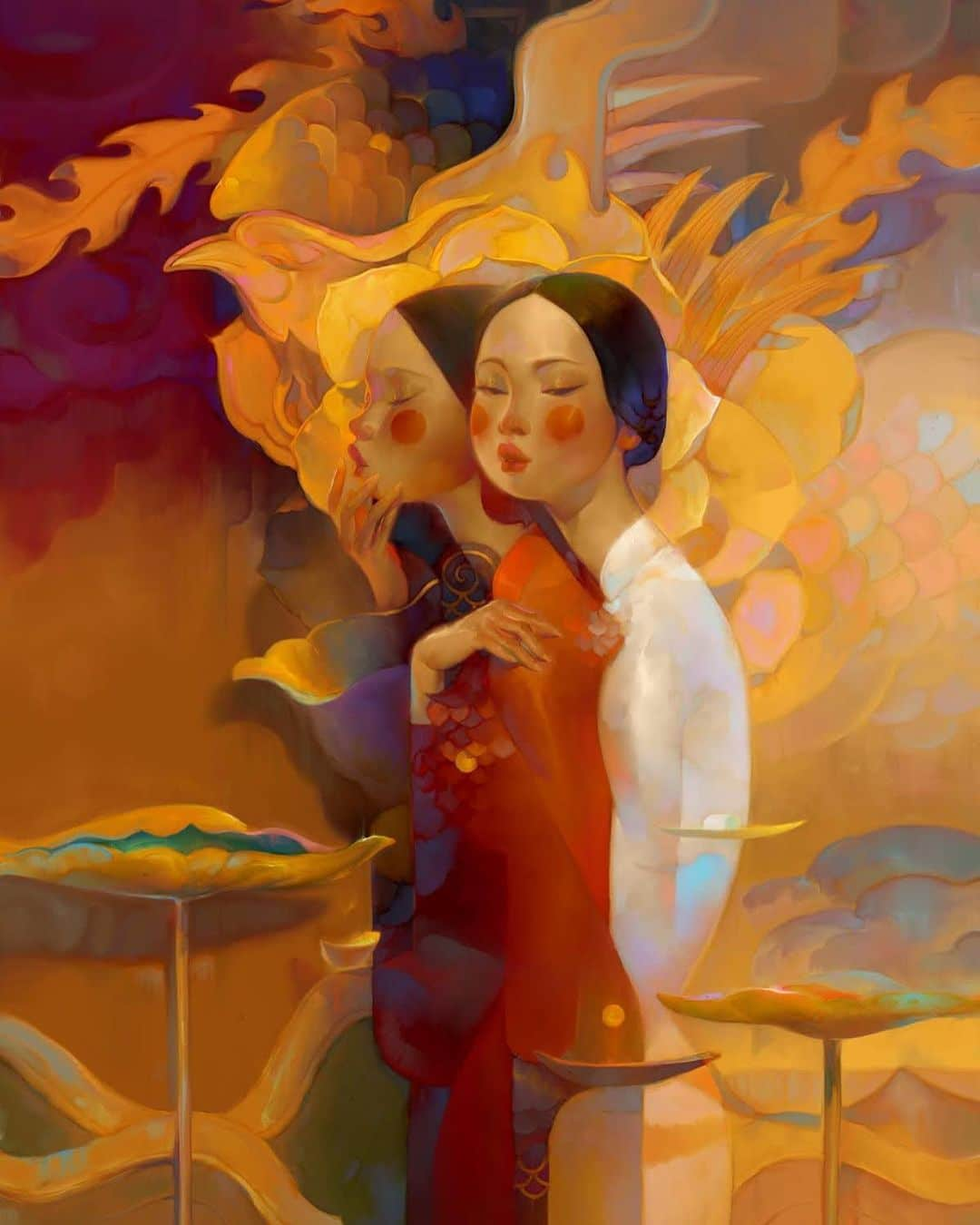 Digital Illustrations of Women by Thanh Nhan Nguyen