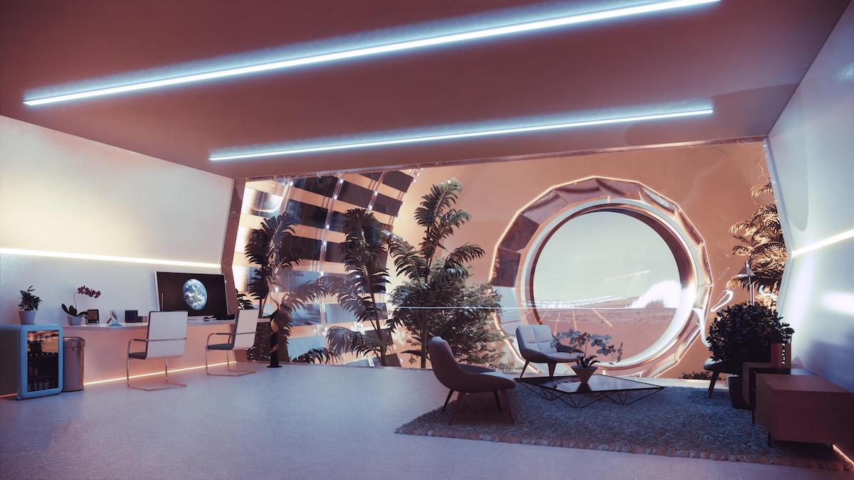 Interior of Nuwa Module, a Mars City for One Million People by ABIBOO Studios
