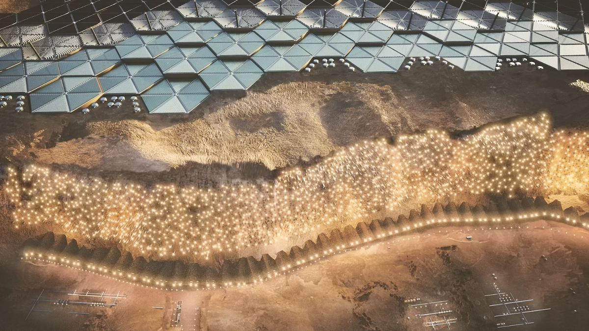 Details of Nuwa, a Mars City for One Million People by ABIBOO Studios