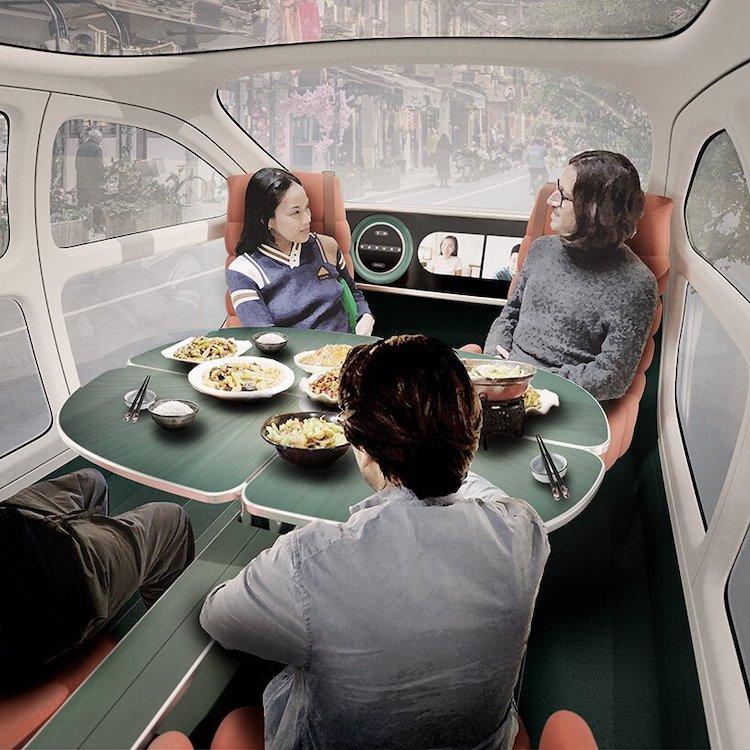 Airo Electric Car Dining Interior
