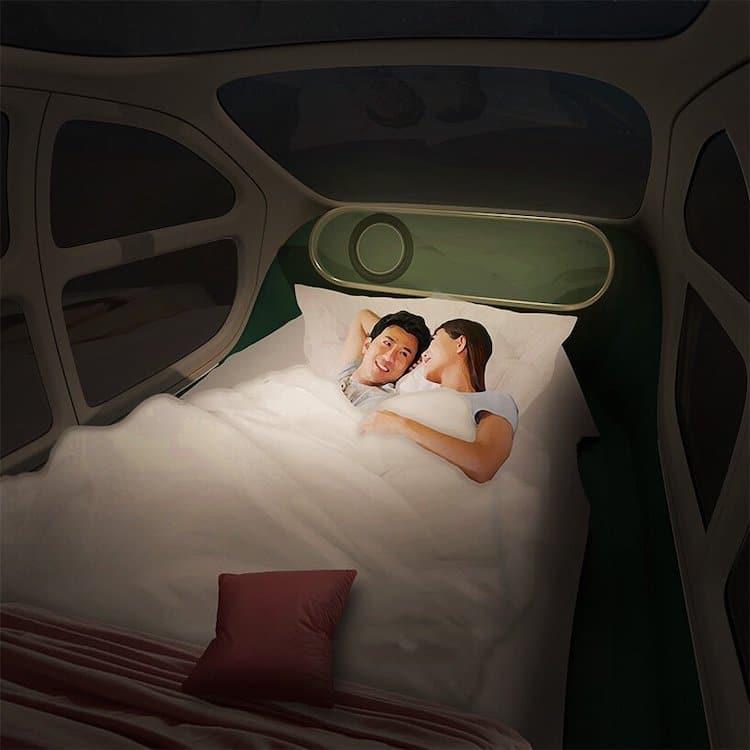 Airo Electric Car Interior Sleep Space