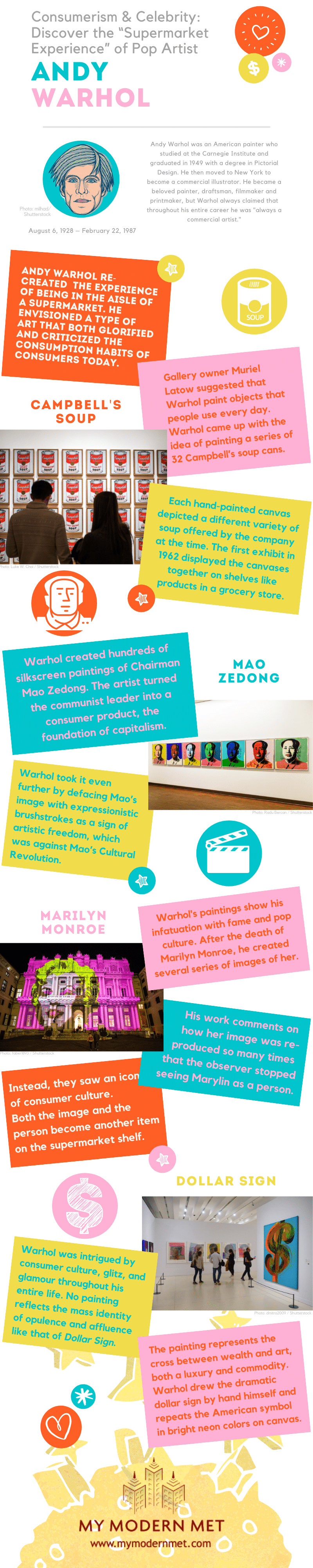 Andy Warhol Infographic