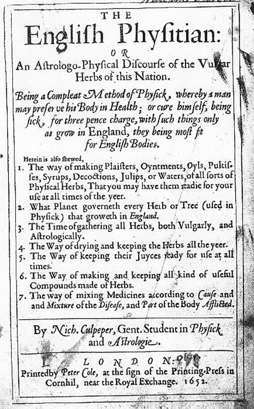 The English Physitian By Nicholas Culpeper