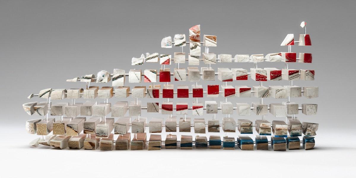 Deconstructed Nike Cortez by Fabian Oefner