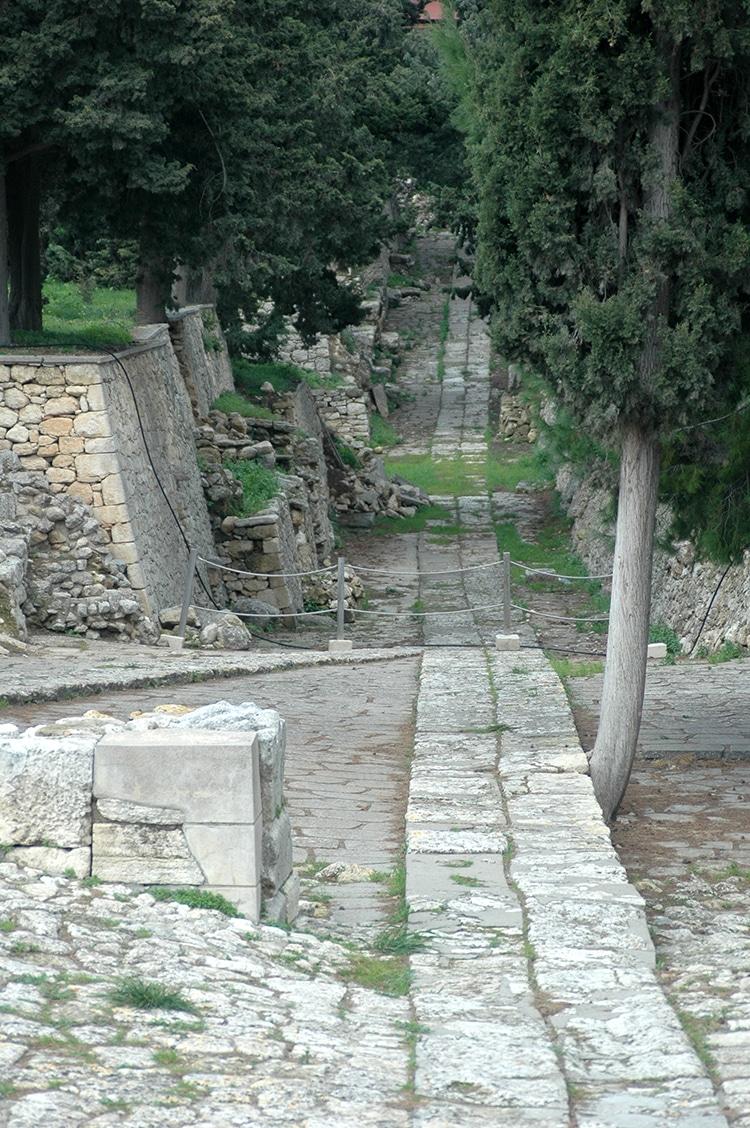 Knossos Royal Road Crete Greece