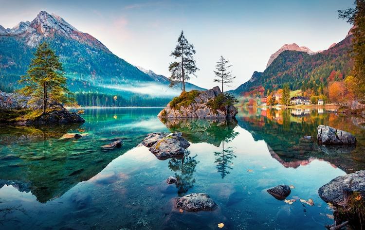 Autumn Scene at the Lake