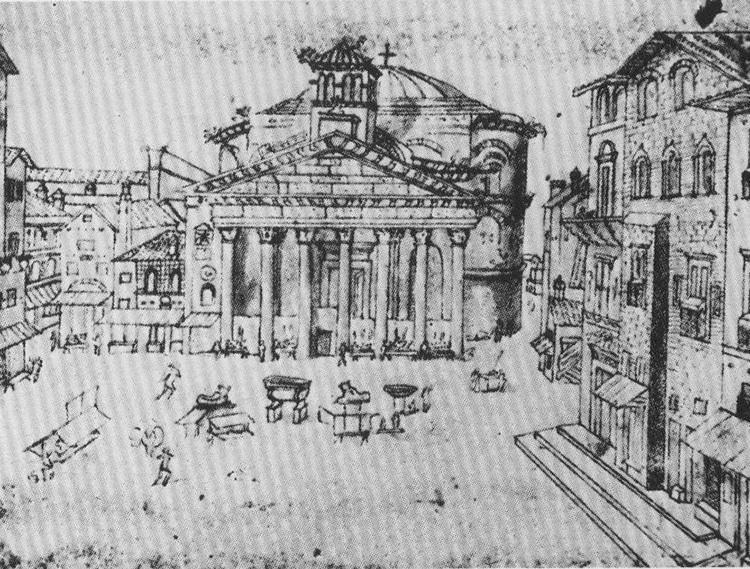 Pantheon Rome 15th Century Dark Ages