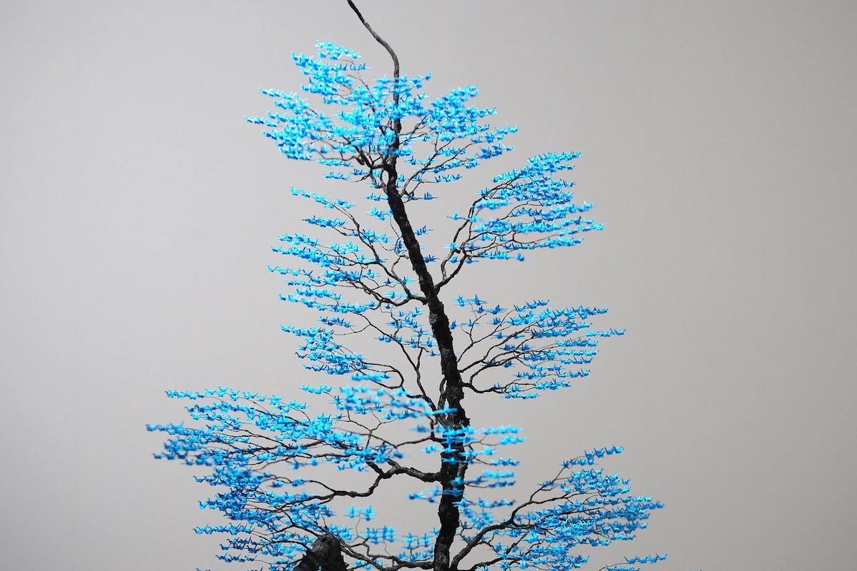 Paper Crane Origami Trees by Naoki Onogawa