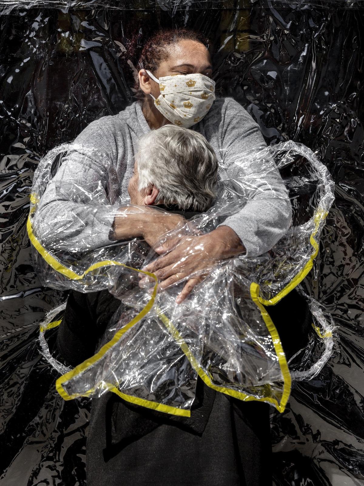 Brazilian Woman Hugging Her Nurse During COVID-19