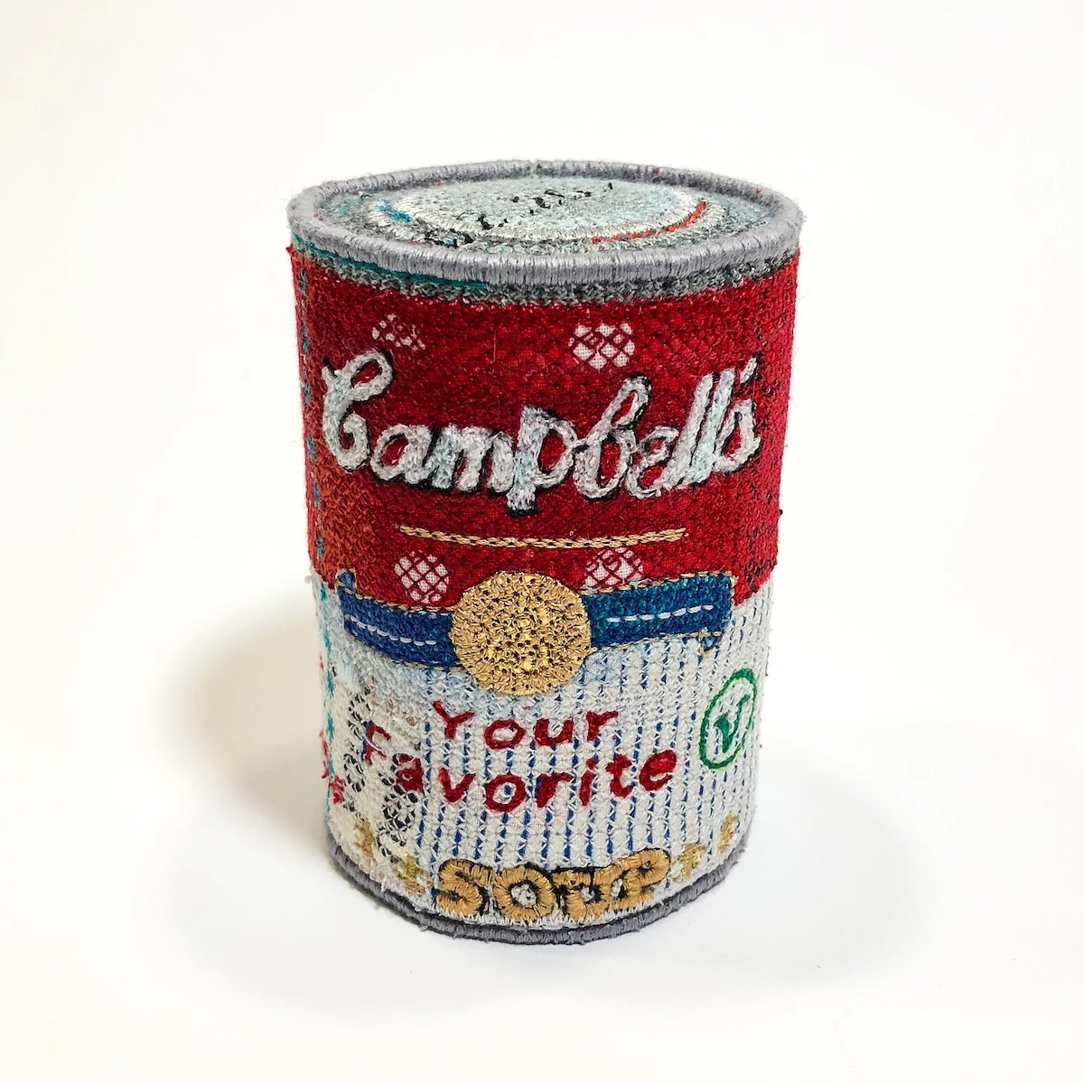 Embroidered Felt Campbell's Soup Can