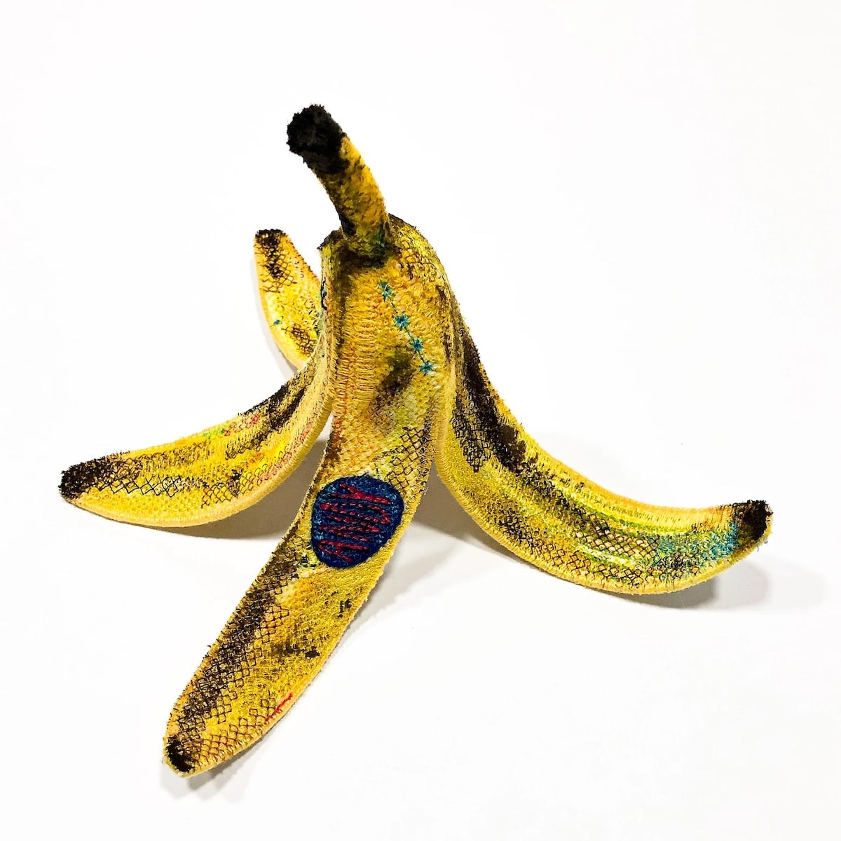 Felt and Embroidery Banana Peel
