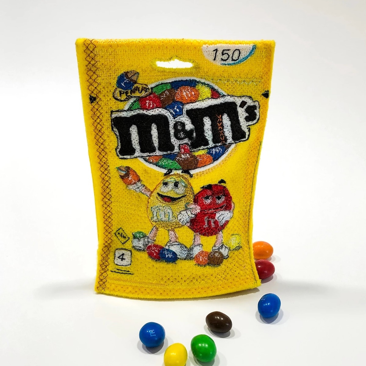 Felt and Embroidery M&M's