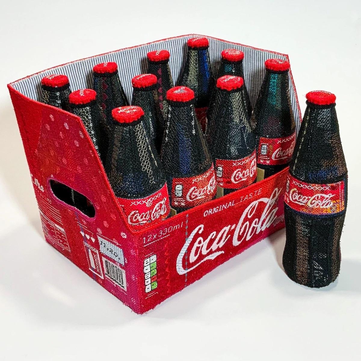 Embroidered Felt Coke Bottles