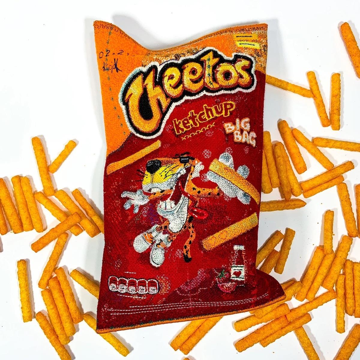Embroidered Felt Cheetos