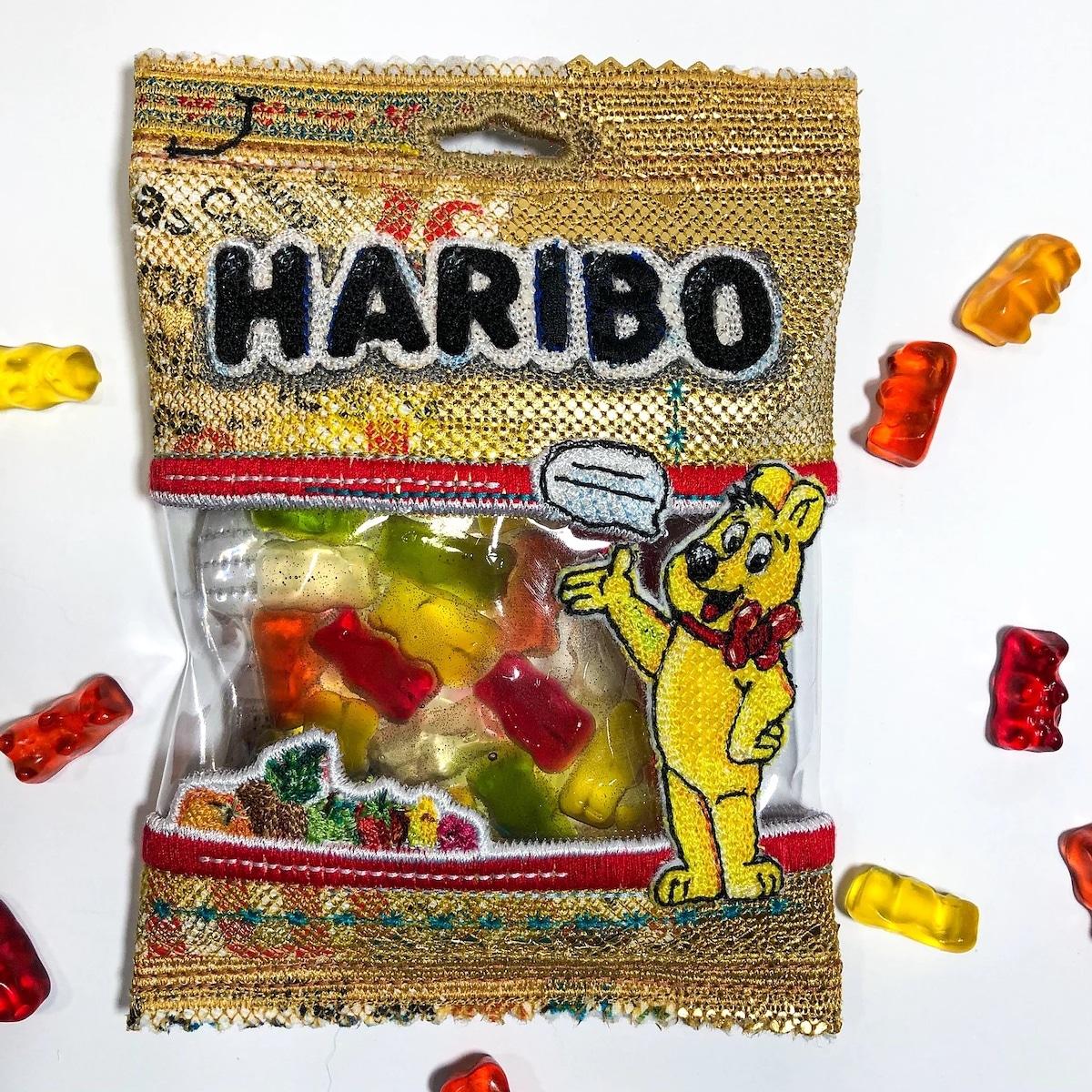 Embroidered Felt Haribo Gummy Bears