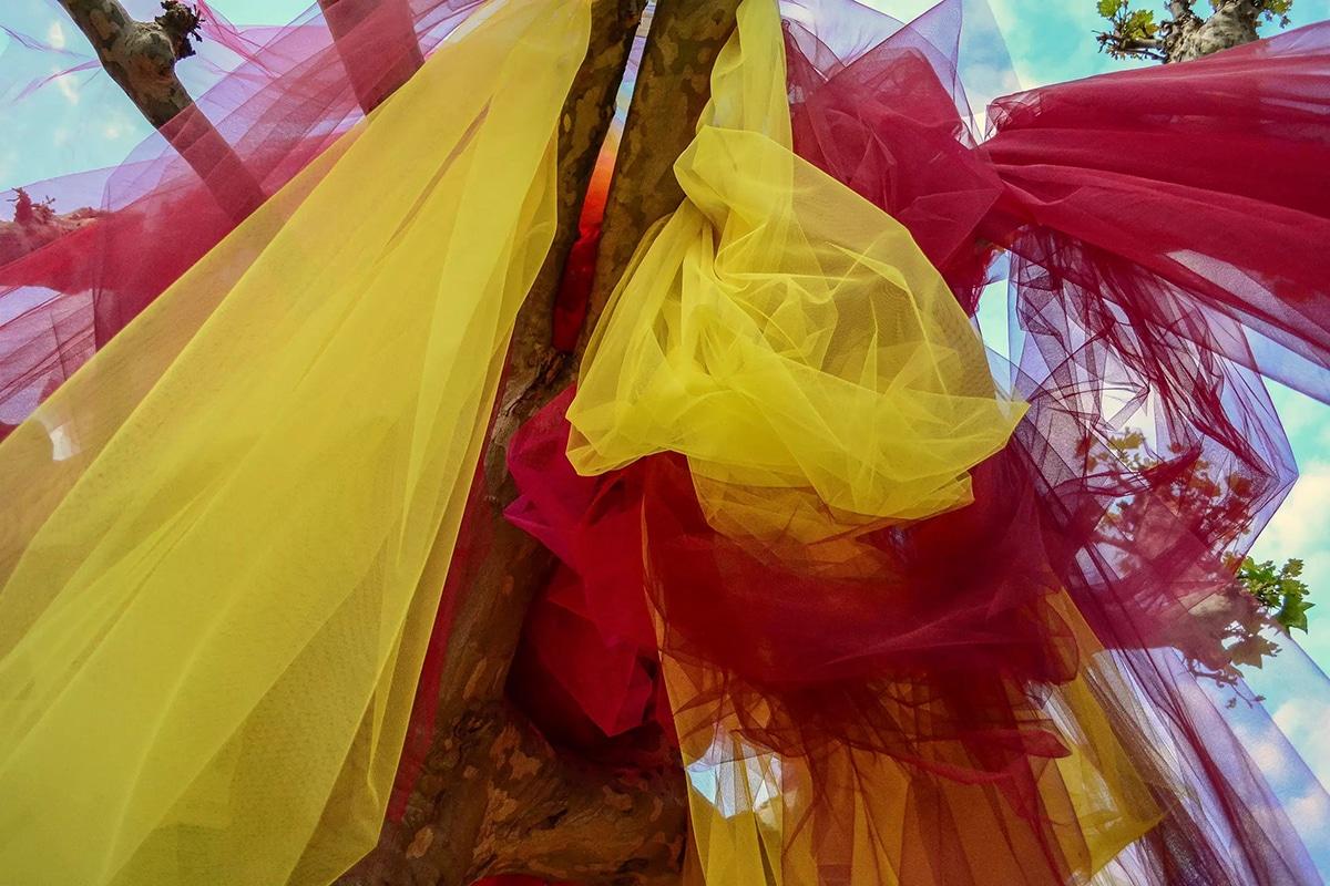 Instalaciones de tul de Ana María Hernando
