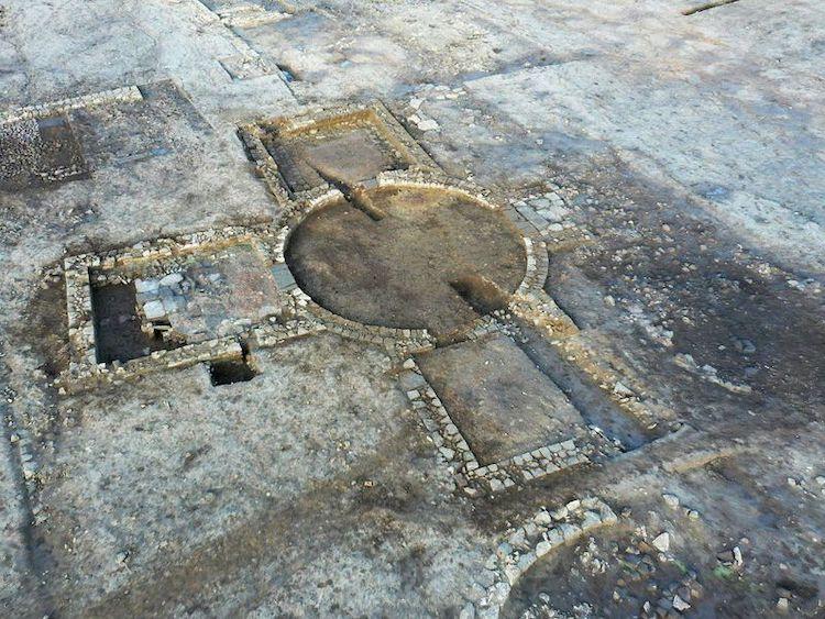 Villa romaine ancienne dans le Yorkshire