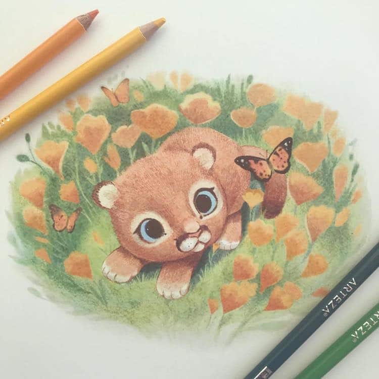 Animal Illustrations by Sydney Hanson