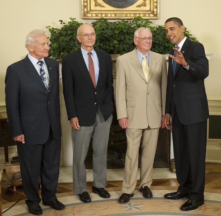 Apollo 11 Crew with Barack Obama