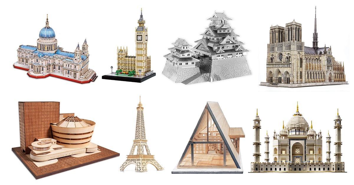 15 Architecture Model Kits for Designers Who Love Puzzles