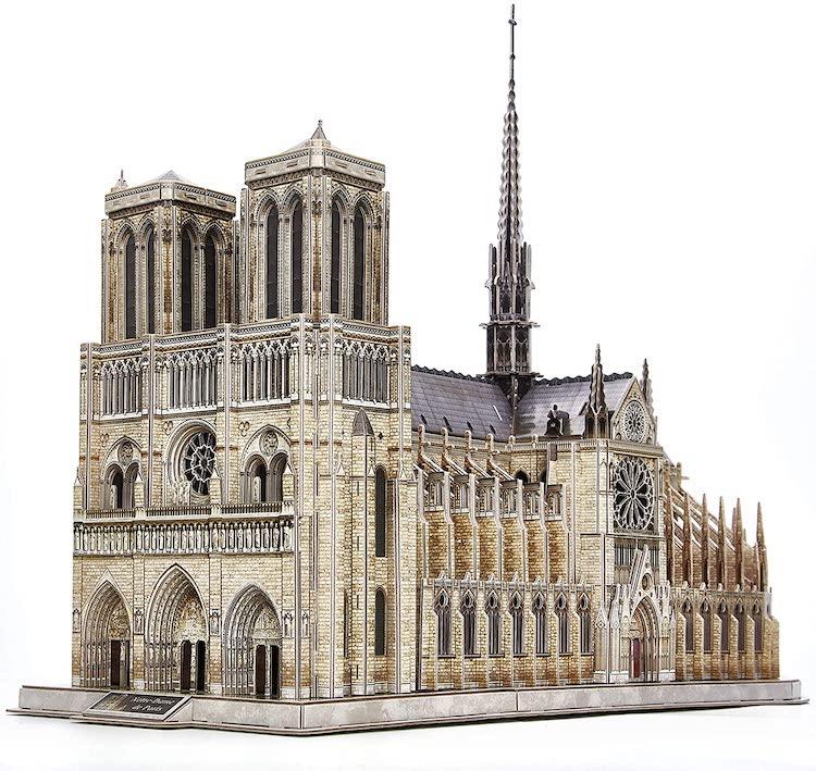 Notre Dame de Paris Church Model Kit