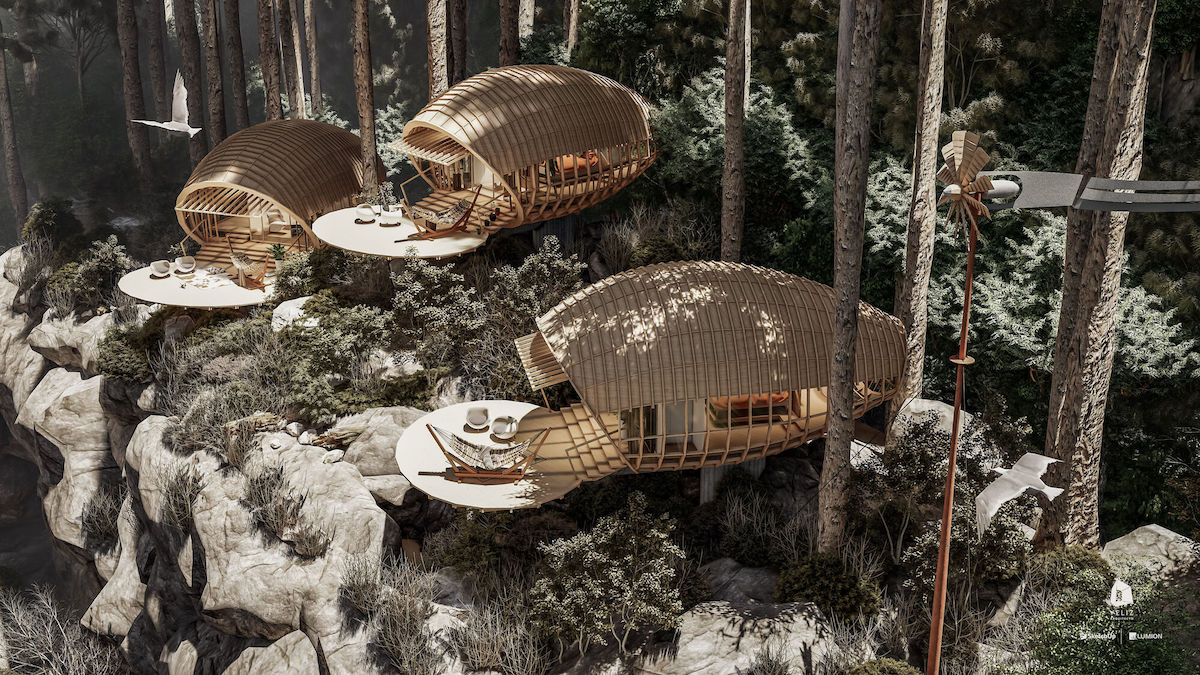 Architects Design Conceptual Cocoon Cabins on this Cuban Mountain Range