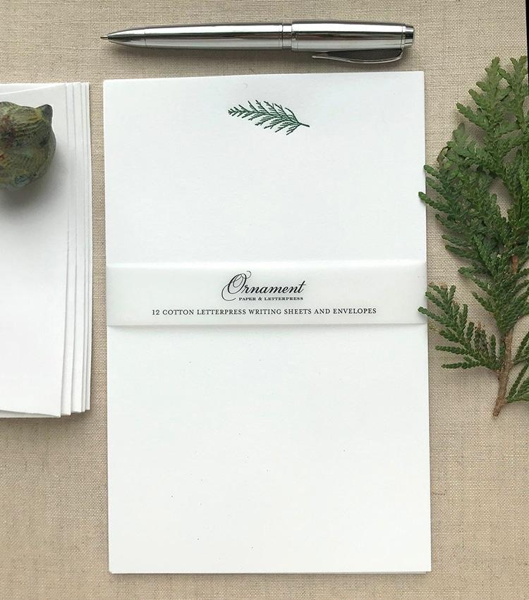 Cedar Pine Cotton Letter Paper