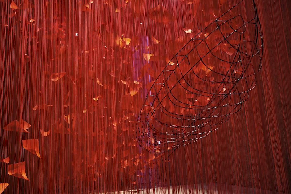 "Chiharu Shiota ""I Hope..."" Thread Art Installation at Konig Galerie"