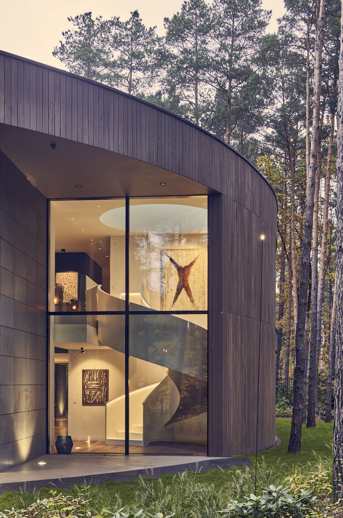 Circular Home in the Woods