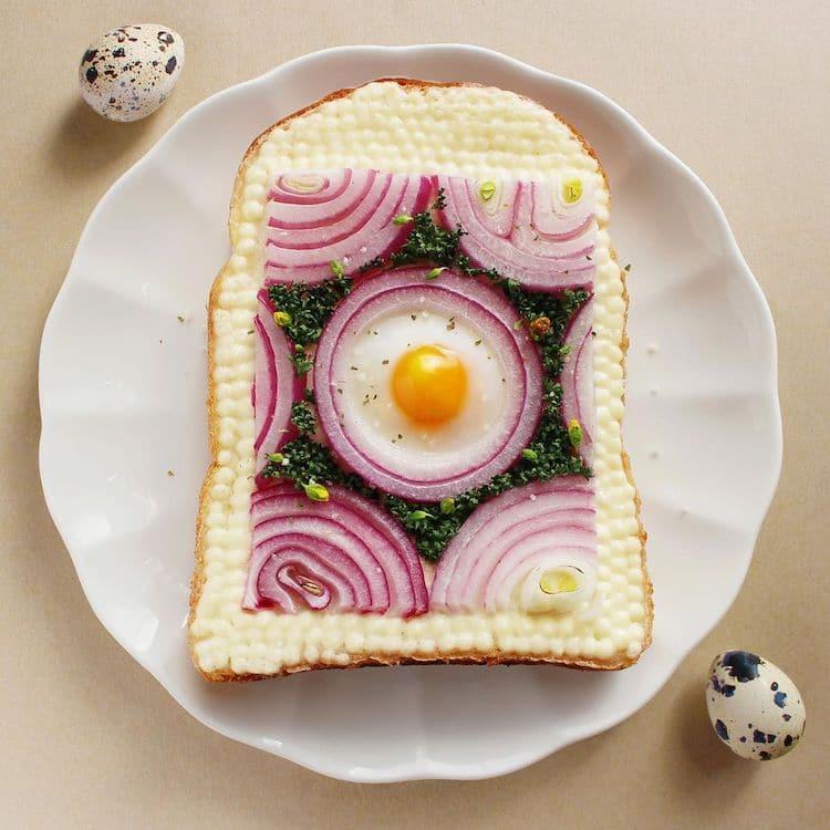 Toast Art par Manami Sasaki