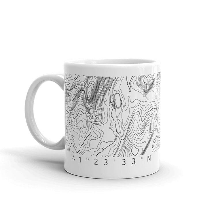 Topographic Map Mug