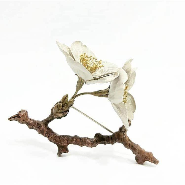 Metal Flower Sculptures by Shota Suzuki