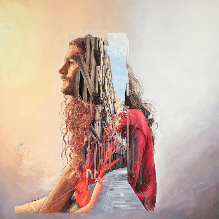 Double Exposure Paintings by Cristian Blanxer