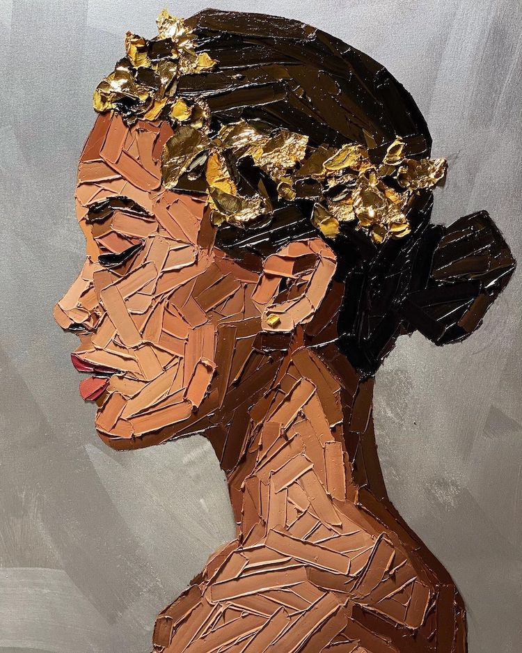 retratos impasto de Elena Gual